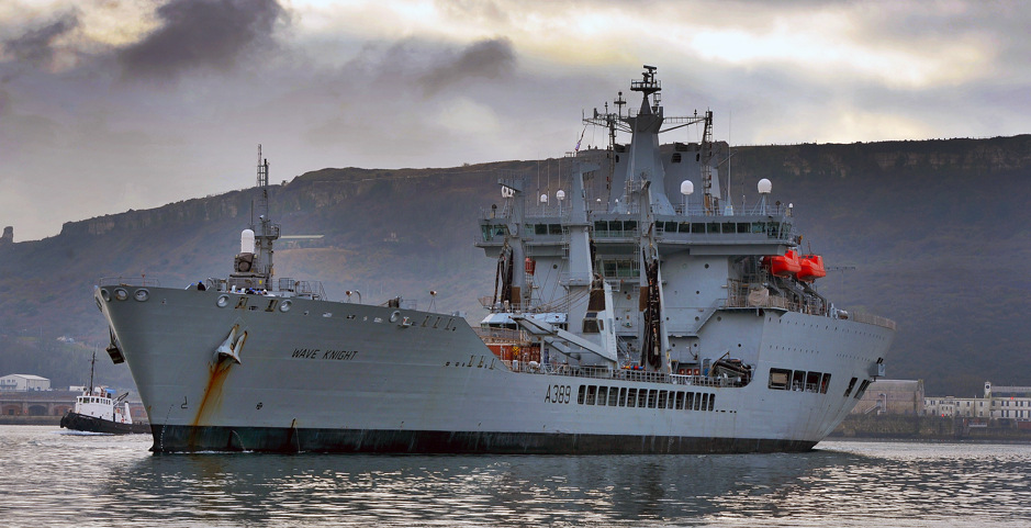 RFA Wave Knight. Crown copyright